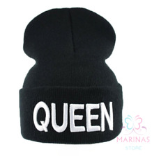 b630818f3b3  UK  NEW Black Queen Beanie  Winter Wool hat Fashion Hiphop Grime