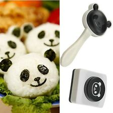 DIY Cute Panda Style Sushi Cook Rice Ball Mold Moulds Seaweed Cutter Roll Tools