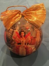 Large 1997 Matrix BARBIE Christmas Ornament Ball by Mattel with Gold Bow