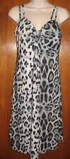 LARA FASHION Large/XL LEOPARD PRINT DRESS (spaghetti straps & padded bust) EUC