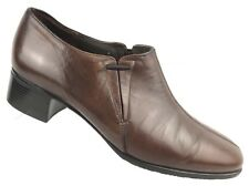 Munro American Brown Leather Stretch Gore Pump Heels Shoes Womens 7.5 Medium