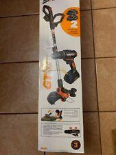 "WORX WG907  Trimmer 20-volt Lithium-Lon 3/8"" Cordless Drill Gt 3.0. Cobo Kit 🐢"