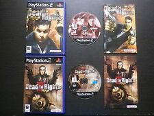 LOT 2 JEUX Sony PLAYSTATION 2 PS2 : DEAD TO RIGHTS 1 + 2 (Namco COMPLET suivi)