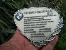 German BMW Award Trophy Badge - Victories 1972 - Cars & Motorcycles Winner