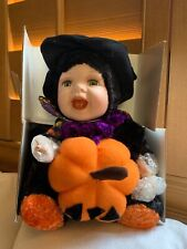 Show Stoppers Halloween Baby Doll w Pumpkin Display Figurine Rare Hard To Find