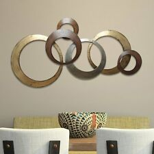 Large Modern Contemporary Style Metal Abstract Wall Art Sculpture Home Decor NEW
