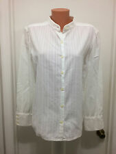 JONES JEANS White  Long Sleeve Blouse  16 Button Stripes