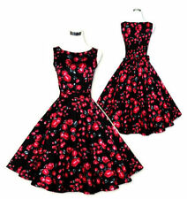 Floral Regular Dresses for Women's 1950s