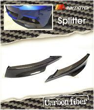 CARBON FIBER FRONT LIP SPOILER SPLITTERS for 09-11 BMW E90 E91 LCI M TECH BUMPER