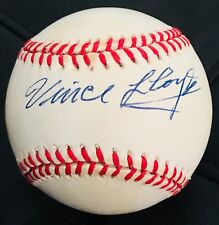 VARY RARE Vince Lloyd Dec.2003 JSA Signed Baseball Broadcaster Chicago Cubs