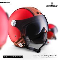ARMOR AV-84 Vintage Deluxe R. Jethelm Vespa Roller Motorrad-Helm XS S M L XL XXL