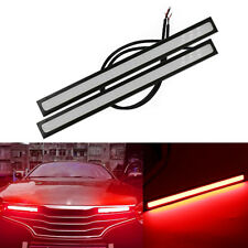 2Pcs Car Auto 12V Silicone COB LED Light Driving Running Daytime DRL Strip Lamp