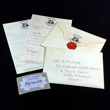 Acceptance Letter Harry Potter Hogwarts Envelope Purchasing List + 9 3/4 Ticket