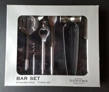 Bar Tool Set Sonoma Home Goods 7 Piece Stainless Steel New
