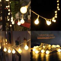 40LED Bulbs String Lights Ball Globe Fairy Lamp Festival Xmas Indoor Outdoor