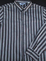 Triumph Mens Button Front Long Sleeve Stripe Shirt X Large XL