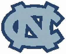Counted Cross Stitch Pattern, North Carolina Tarheels Logo - Free US Shipping
