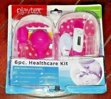 Playtex Baby 6pc Healthcare Kit in Pink Designer Case! Free Shipping!