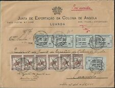 ANGOLA - AMBRIZ AIR MAIL TAX PERCUE STAMPS ON COVER 1946 SCARCE
