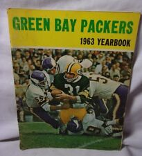 1963 Yearbook Football Green Bay Packers NFL Jim Taylor on Cover     T*
