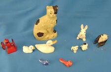 Miniature animals 10 pcs. duck bird pigs rabbit panda bear coffee grinder art