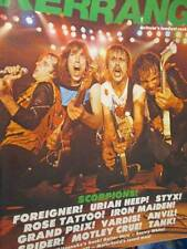 Kerrang March 25-April 7 Magazine #12-Scorpions/Foreigner/Uriah Heep/Styx/Rose T
