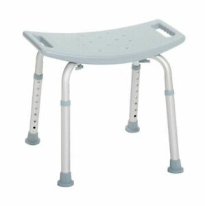 Drive Medical Bath Tub Shower Seat Chair Aluminum Shower Bench Without Back Grey