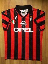 AC MILAN ITALY LOTTO 1994 1995 ORIGINAL HOME FOOTBALL SHIRT JERSEY TRIKOT MAGILA