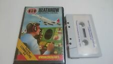 JUEGO CASSETTE HEATHROW AIR TRAFFIC CONTROL COMMODORE 64 CMB 64 C64 PAL 128