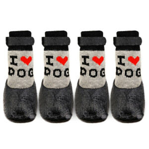 4Pcs/Set Pet Dog Foot Shoes Paw Protector Warm Winter Boot Puppy Wellies Booties