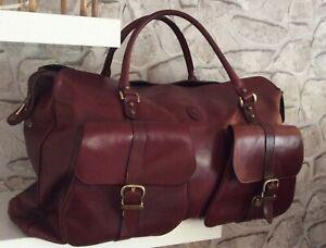 Weekender Reisetasche Tasche Etienne Aigner Vintage Bordeux Rot Rarität
