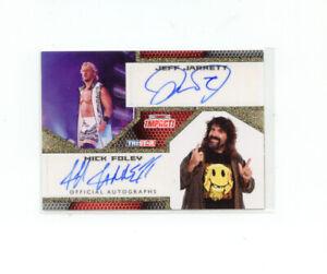 TNA Impact 2009 #IA-61 Dual Autograph Jeff Jarrett Auto Mick Foley Auto 10/60 SP