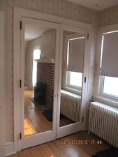INTERIOR CLOSET DOOR WITH BUILT IN MIRROR FRENCH DOORS 4 FT