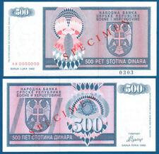 Bosnia/Bosnia 500 Dinara 1992 SPECIMEN UNC p.136 S