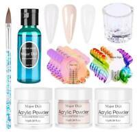 Professional Nail Art Acrylic Powder Liquid Tips Starter Practice Set Full C6V2