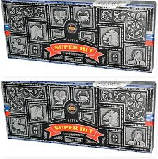 Super Hit Incense Sticks 2 x 100 Gram Boxes = 200 Grams Nag Champa Satya SaiBaba