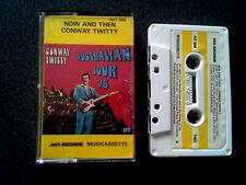 CONWAY TWITTY NOW AND THEN CASSETTE TAPE AUSTRALIAN TOUR 1976