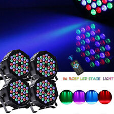 4PCS 80W 36 LED RGB Stage Lighting DMX PAR Light +4 Remote Party Disco DJ Club