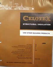 CELOTEX Insulation Building Products Catalog ASBESTOS CEMESTO 1959