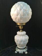 Duralastic Lamp Products White Glass GWTW Lamp w/Diamond Quilt Pattern A84 #3100
