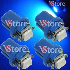 4 LED Pour Tableau De Bord T5 B8.5D SMD BLEU Ampoules W5