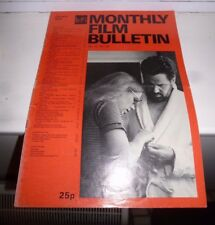 bfi monthly film bulletin 1975 (January - December)  Complete Year in Good Con.