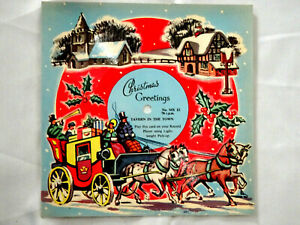 VINTAGE 1950's MELODY CHRISTMAS CARD MX12 PLAYABLE 78rpm 'TAVERN IN THE TOWN'