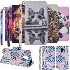 For Samsung A6 A7 A8 2018 A3 A5 2017 Leather Flip Wallet CardS Phone Case Cover