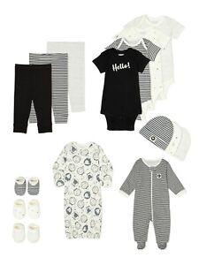 Garanimals Layette 100% Organic Cotton 15-Piece Baby Clothes Set - NB / 0-3/ 3-6
