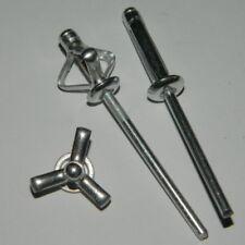 500 Großkopf  Blindnieten 4,8x10,3 Kopf-16mm  Alu//Stahl  Mehrbereich MB
