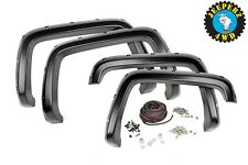 GM Pocket Fender Flares w/ Rivets,99-06 Silverado/Sierra 1500 Pickup, Flat Black