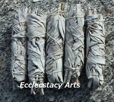 Lot 10 White Sage Smudge Stick- Wands House Cleansing Negativity Removal 4 to 5""