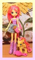 "❤️My Little Pony MLP Equestria Girls Original Fluttershy 3"" Brushable Doll Set❤️"