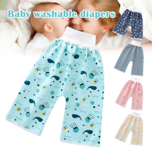 Baby Pants Anti Bed-wetting Comfy Cotton-Children Diaper Shorts High-Waist Pants